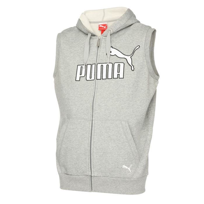 puma sweat capuche sans manche gris achat vente veste. Black Bedroom Furniture Sets. Home Design Ideas