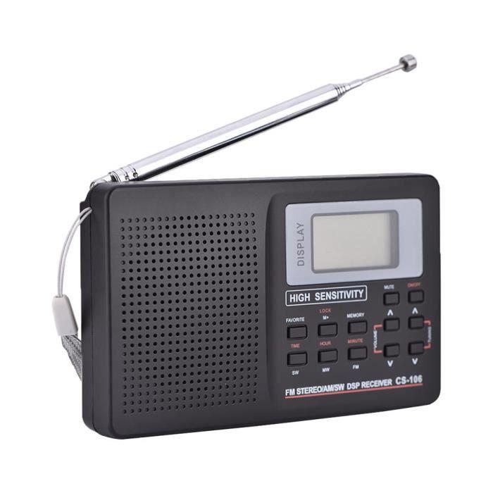 FM / AM / SW / LW / TV Son Récepteur à fréquence maximale recevant le radio-réveil de type 2
