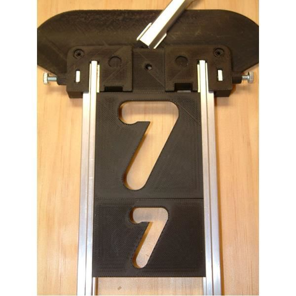 Numéros de rechange 38 x 63 mm, vertical, jeu de 20 pièces