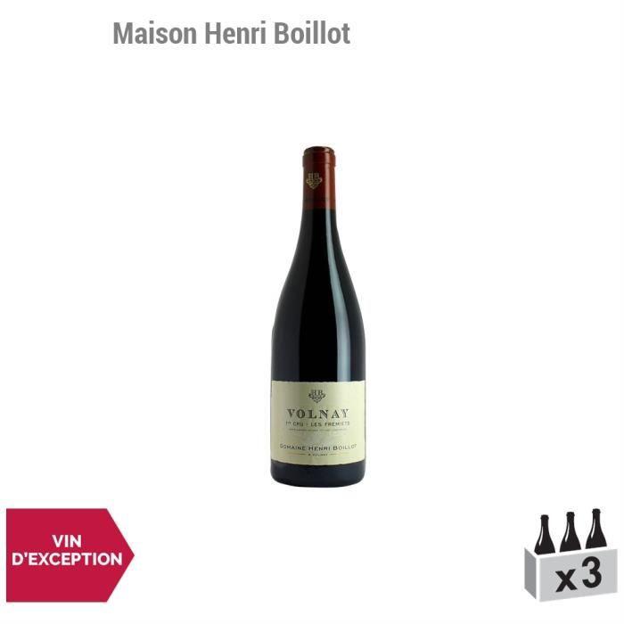Volnay premier cru Frémiets Rouge 2013 - Maison Henri Boillot - Vin AOC Rouge de Bourgogne - Lot de 3x75cl - Cépage Pinot Noir