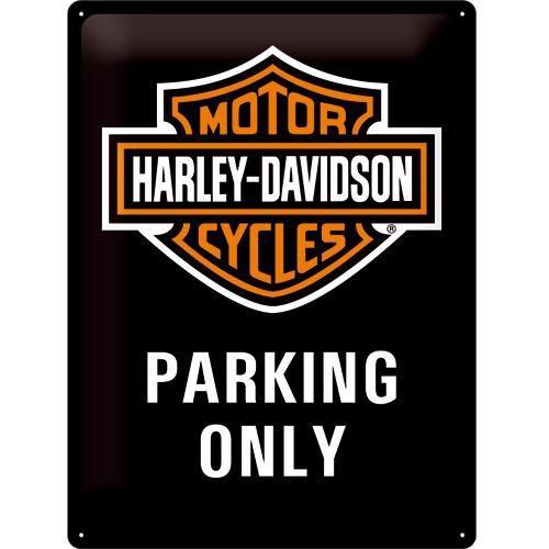 Grande plaque métal Harley Davidson Parking