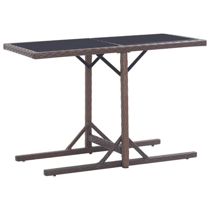 MGQ2 - Luxueux -Table à manger Table de Jardin de 4 à 6 personnes Table de Pique Nique pour extérieur, cuisine, jardin, fêtes 6576