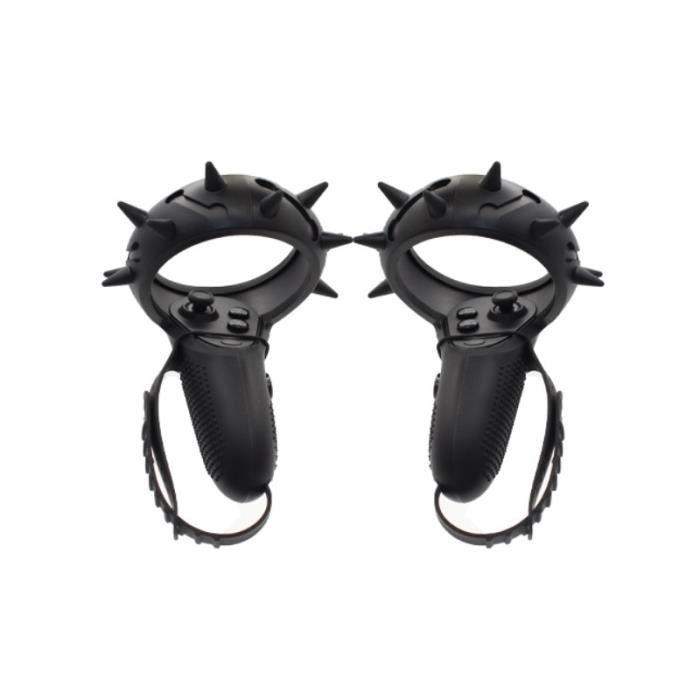 Jeux vidéo,1 paire de manchon de protection tout rond pour Oculus Quest-Rift S VR contrôleur tactile poignée - Type 2in1 Black