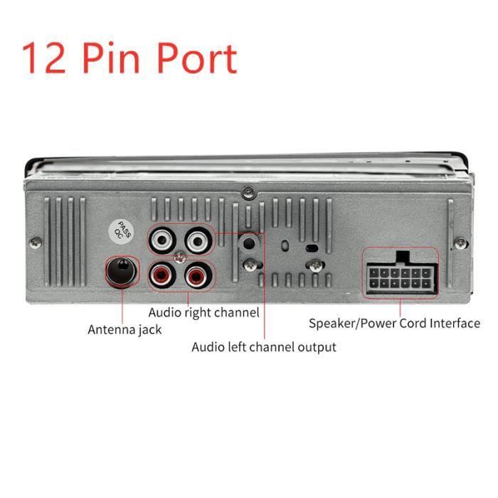 Lecteur multimédia voiture Bluetooth Autoradio MP3 lecteur de musique Autoradio Radio FM Aux entrée récepteur - Type 12 pin port #B