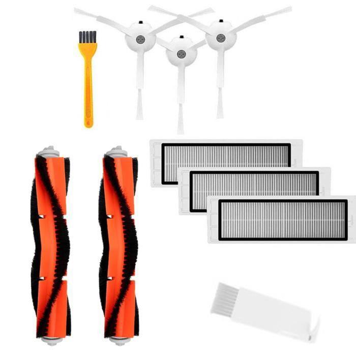 Accessoires Pour XIAOMI Mi Robot Robo 2 Rock S50 Pièces De Rechange Aspirateur 3 Brosse Latérale 3 Filtre HEPA 2 Brosse Principale 2