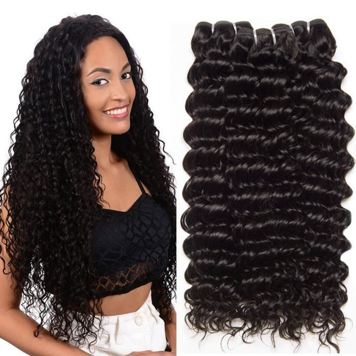 CLAROLAIR Meche Bresilienne Bouclée Tissage Bresilien en lot Tissage Bresilien Curly Cheveux BrésiliensTissage Cheveux Humains Na