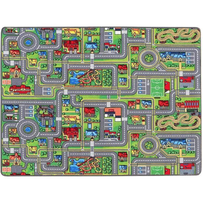 TAPIS - DESSOUS DE TAPIS flor - Ideen in Textil Tapis de Jeux Rues 0,95m x 2,00m, Tapis de Jeu Enfant - Tapis Circuit Voiture - 994