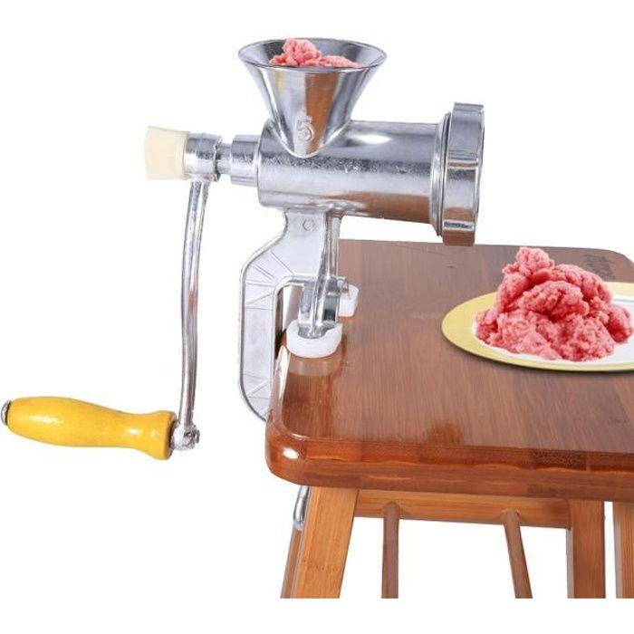Hachoir à viande manuel hachoir à saucisse alimentaire Maker cuisine métal Stuffer outil (argent ) HACHOIR ELECTRIQUE HB052