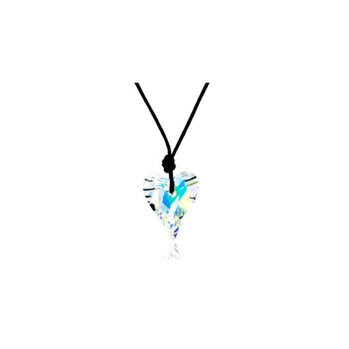 Collier Coeur en Cristal Blanc de Swarovski Elements