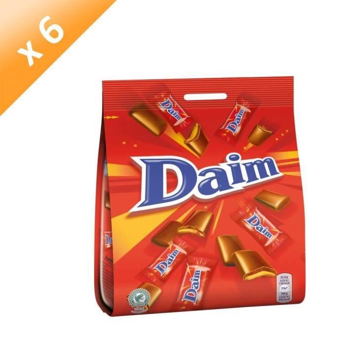 [LOT DE 6] DAIM Chocolat au lait fourré au caramel croquant - 200 g