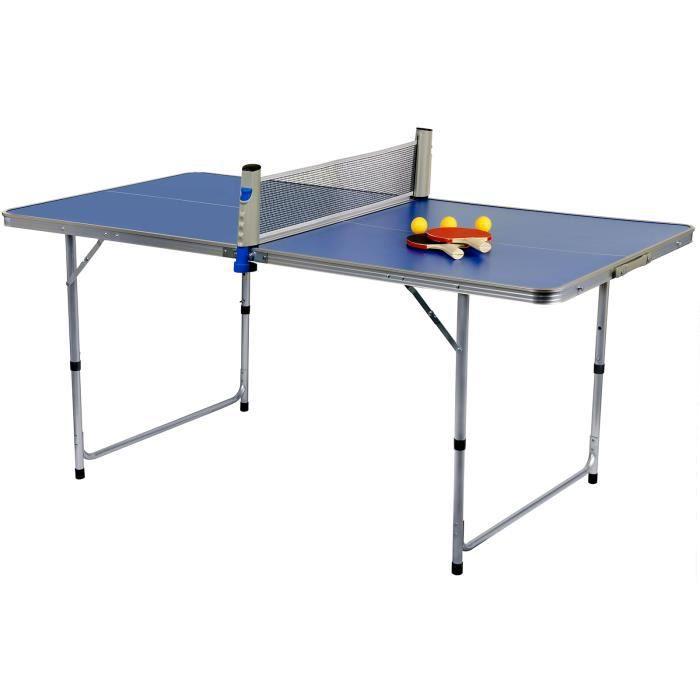 Capture -FreeStyle Tennis Table AL-160- Table de Tennis Indoor, 80x160, FreeStyle, Alu., Pliable, avec Filet, balles, raquettes, …
