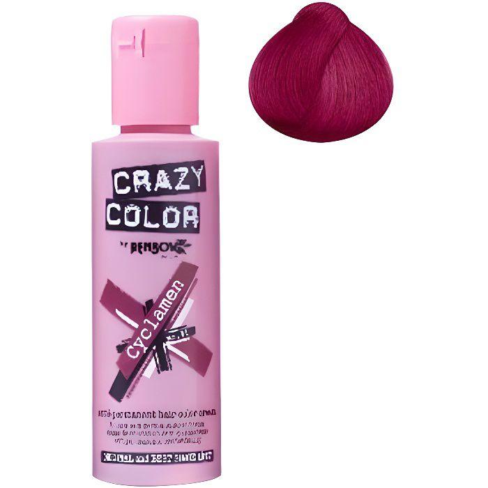 Coloration cheveux semi-permanente CRAZY COLORCouleur : Rouge CyclamenPour un look FUN et des cheveux aux couleurs vives et