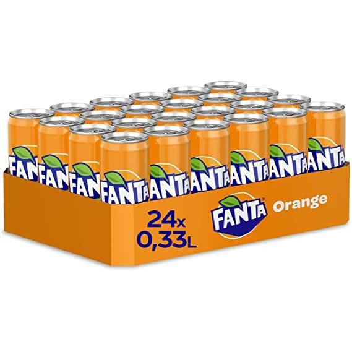 Fanta Orange 24 unités de 330ml, canettes slim