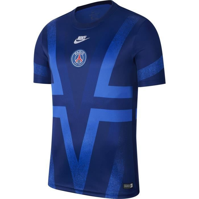 Maillot Nike Psg Pre-match 2019-20 bleu homme
