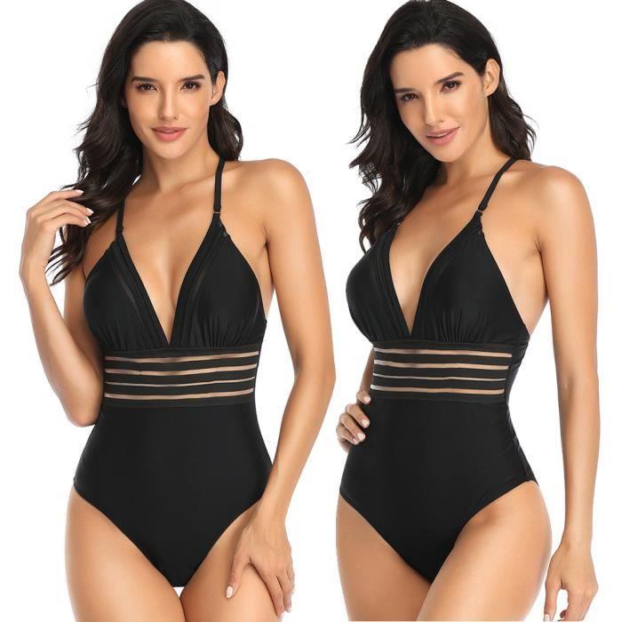 Maillot de bain rembourré pour femmes Sexy maillot de bain Monokini Push Up Romper maillot de bain CZA91220053BKL2_1788