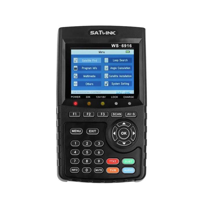 SATlink WS-6916 DVB-S/S2 Données Détecteur de signaux satellite numérique Recherche Satellite