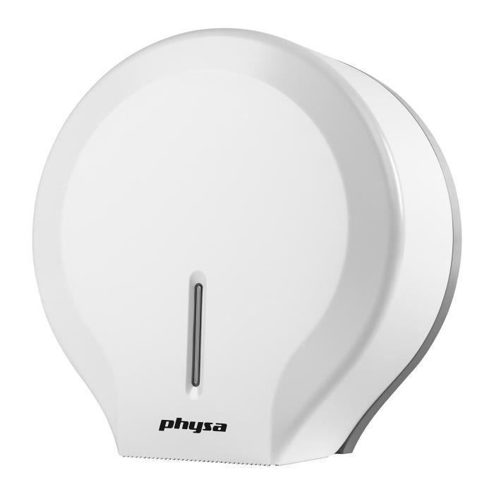 Dérouleur de papier toilette WC Physa FOGGIA WHITE (plastique ABS rouleaux géants système de verrouillage clé inclus)