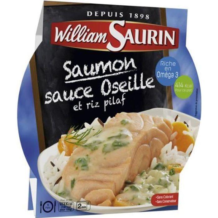 WILLIAM SAURIN Saumon sauce oseille et riz pilaf - 300 g