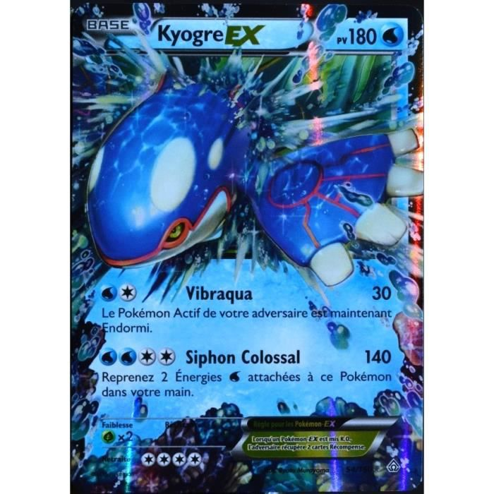 Carte pok mon 54 160 kyogre ex 180 pv s rie xy achat vente carte a collectionner cdiscount - Cart pokemon xy ...