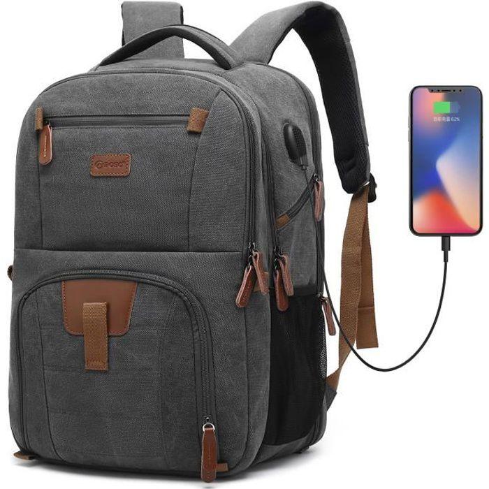 SAC À DOS INFORMATIQUE POSO Sac à dos pour ordinateur portable 17.3 pouce