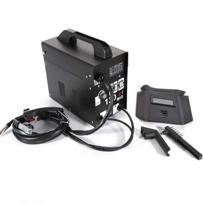 COSTWAY Poste /à Souder Mig Inverter avec Gaz Soudage Electrique Kit De Soudage Machine /à Souder Noir