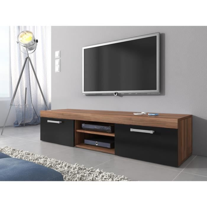 meuble tv mambo ch ne et noir mat 160 cm achat vente meuble tv meuble tv mambo ch ne et no. Black Bedroom Furniture Sets. Home Design Ideas