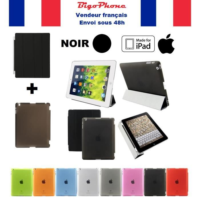 coque smart case cover noir apple ipad mini 4 prix pas cher cdiscount. Black Bedroom Furniture Sets. Home Design Ideas