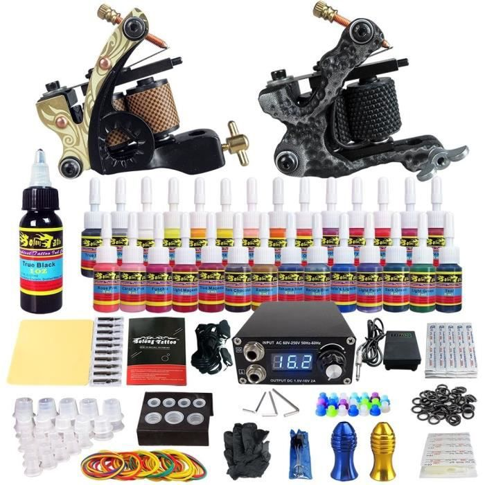 Solong Tattoo Kit De Tatouage Complete 2 Machine A Tatouer