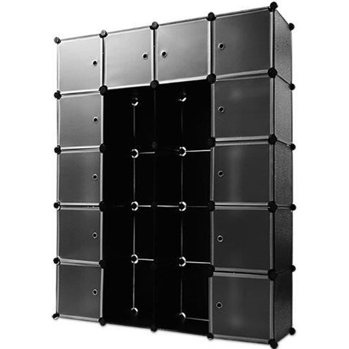 armoire etagere penderie dressing achat vente penderie mobile armoire etagere penderie dr. Black Bedroom Furniture Sets. Home Design Ideas