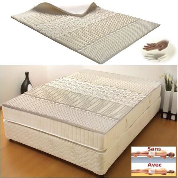 surmatelas mousse m moire de forme 5 zones 140 190 cm 38d achat vente sur matelas cdiscount. Black Bedroom Furniture Sets. Home Design Ideas