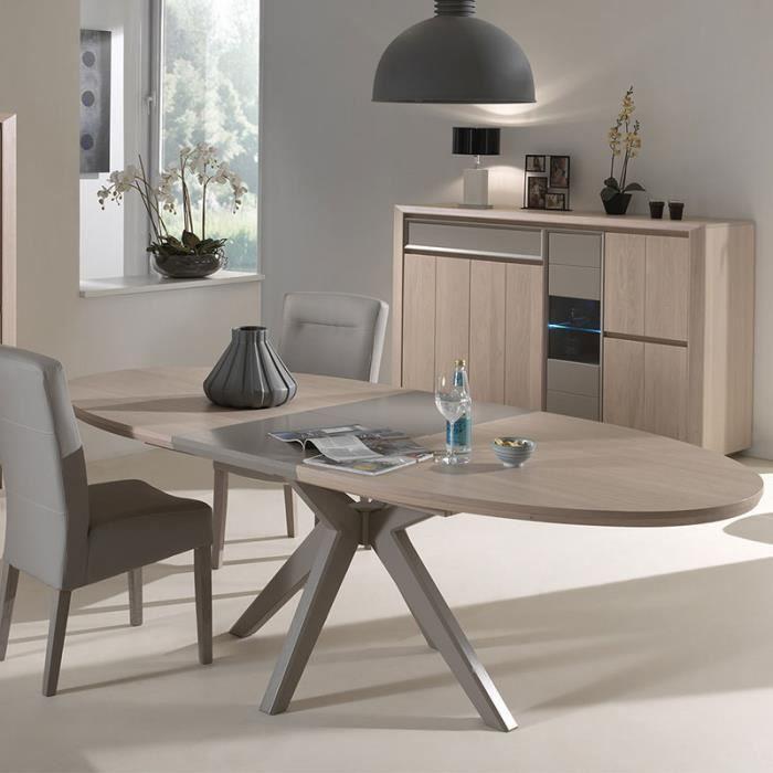 Salle à manger moderne couleur bois et taupe PROMESSE Sans ...