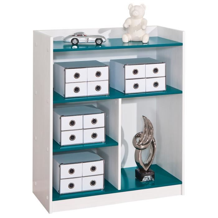 meuble tag re chambre enfant coloris blanc et bleu p trol achat vente meuble tag re meuble. Black Bedroom Furniture Sets. Home Design Ideas