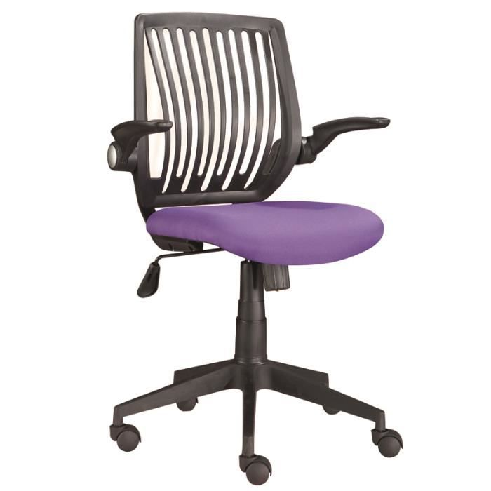 chaise de bureau violet 5 roulettes dimension achat vente chaise de bureau violet cdiscount. Black Bedroom Furniture Sets. Home Design Ideas