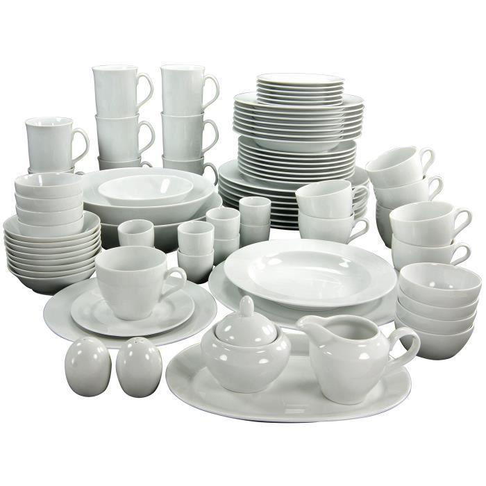 Creatable Points Service de Table 12 Pièces Assiette Set vaisselle Combiné service