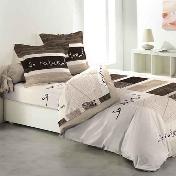 parure de draps 5 pi ces so natural achat vente parure de drap cdiscount. Black Bedroom Furniture Sets. Home Design Ideas