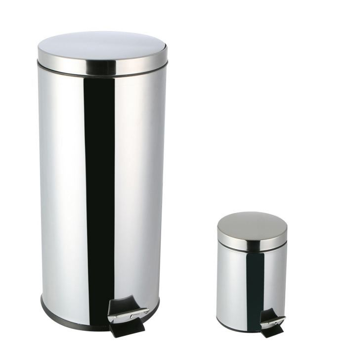 lot de 2 poubelles 30 3 litres avec seau achat. Black Bedroom Furniture Sets. Home Design Ideas