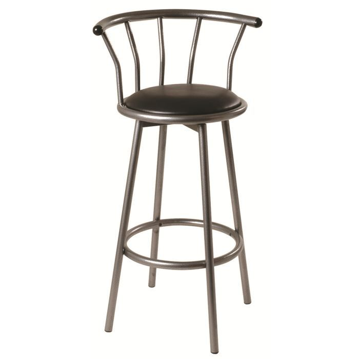 lot de 2 tabourets de bar edger acier martel achat vente tabouret de bar acier alu cdiscount. Black Bedroom Furniture Sets. Home Design Ideas