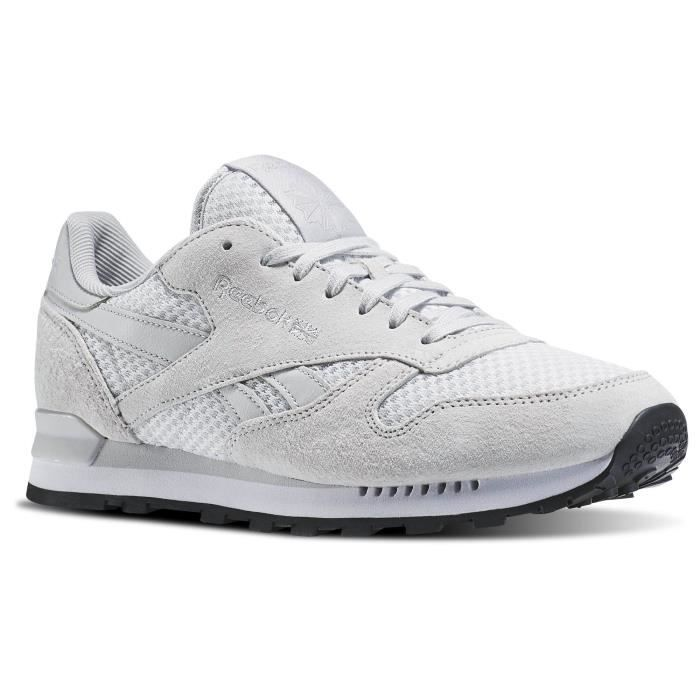 Basket REEBOK CL LEATHER CLIP TEC - Age - ADULTE, Couleur - BLANC, Genre - HOMME, Taille - 44