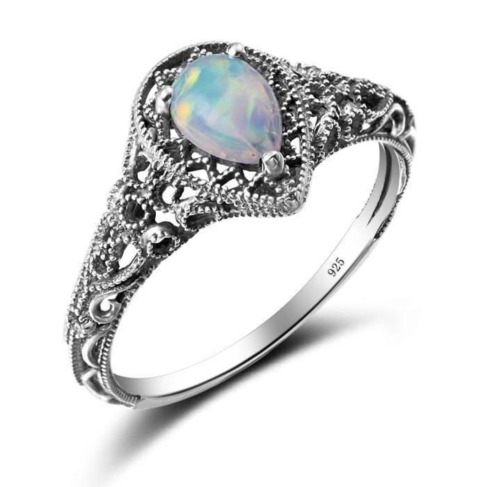 bague en argent opale