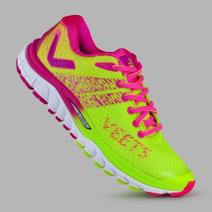 low priced so cheap most popular Chaussures Running VEETS Femme Inside 2.0 Rose / Jaune PE 2018 ...