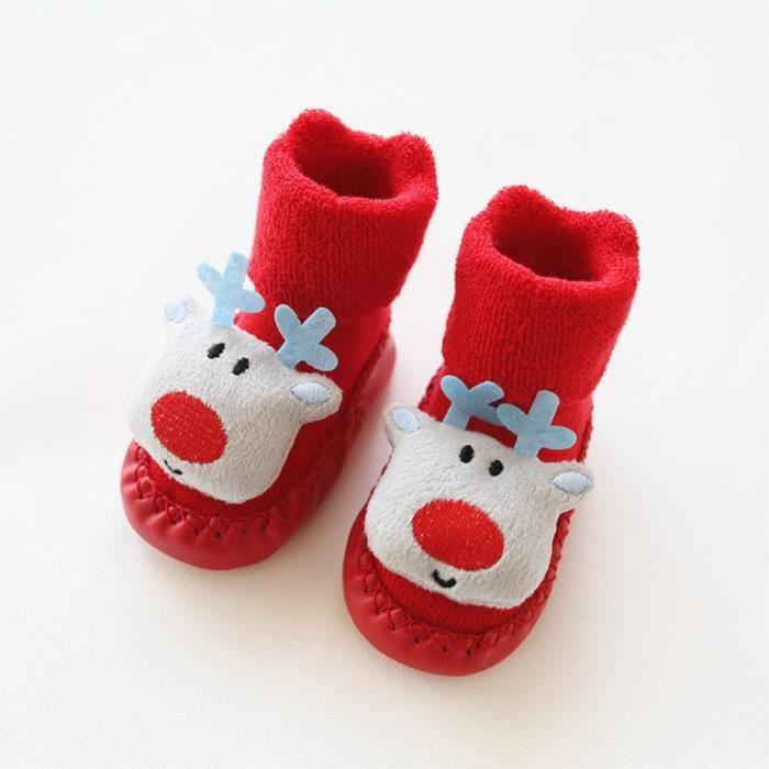 Chausson Noel Bebe SHINA Chausson pour nouveau nés bébé chaussette anti dérapant de
