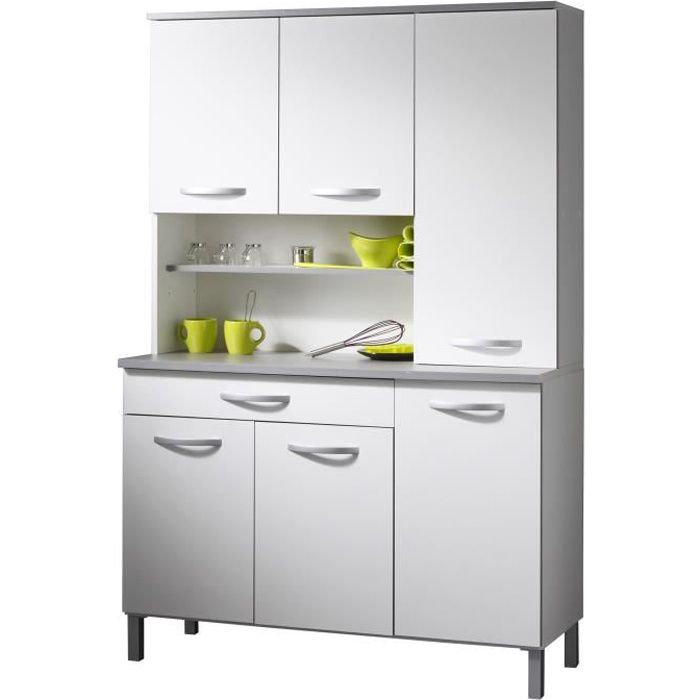 harmony buffet de cuisine 120 cm blanc achat vente buffet bahut harmony buffet cdiscount. Black Bedroom Furniture Sets. Home Design Ideas