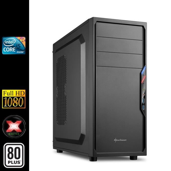 pc de bureau intel i5 4x3 2ghz 4go ram ssd prix pas cher cdiscount. Black Bedroom Furniture Sets. Home Design Ideas