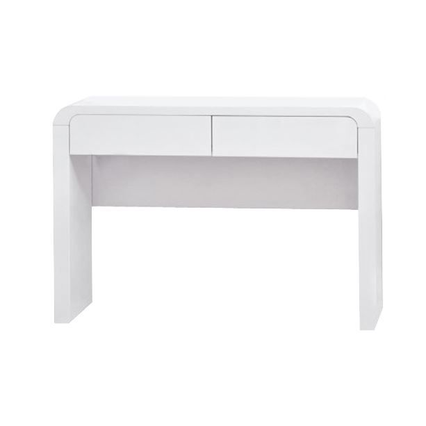 console 2 tiroirs ornella laqu blanc achat vente console console 2 tiroirs ornella. Black Bedroom Furniture Sets. Home Design Ideas