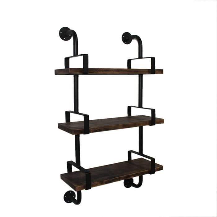 etagere murale style industriel cgmrotterdam. Black Bedroom Furniture Sets. Home Design Ideas