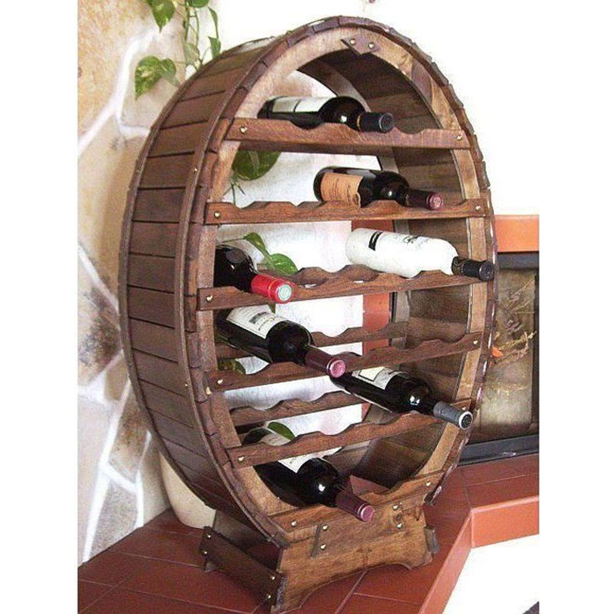 Meuble En Tonneau De Vin tonneau porte bouteilles