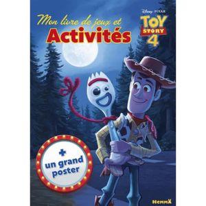 LIVRE LOISIRS CRÉATIFS Mon livre de jeux et activités Disney Toy Story 4.