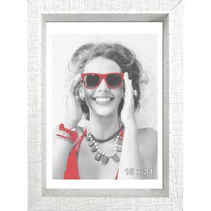 CADRE PHOTO SCALLA Cadre photo moulure coffre 15x21 cm blanc