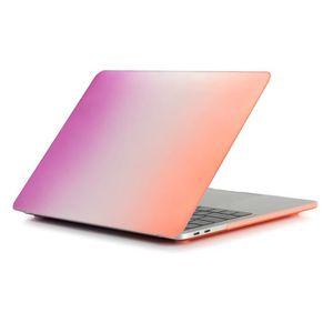 SUPPORT PC ET TABLETTE Étui de protection rigide arc-en-ciel mat pour mac