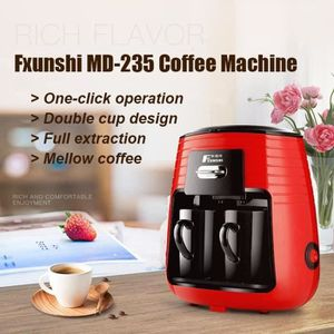 MACHINE À CAFÉ ANG  220V 0.25L Fxunshi MD-235 Machine À Café Amér